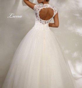 Счастливое !!! Платье свадебное размер 44- 46