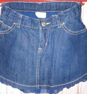 Юбка на девочку джинсовая р-Р (110 см)