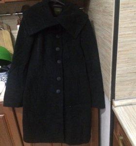 Пальто черное б/у