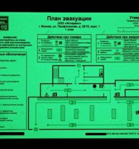 Планы эвакуации фотолюминисцентные