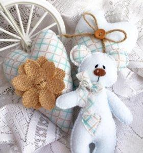 Текстильные игрушки ручной работы