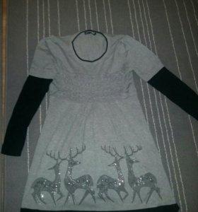 Платье туничка теплая
