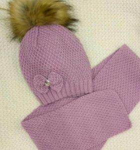 Комплект шапка+шарф свяжем на заказ