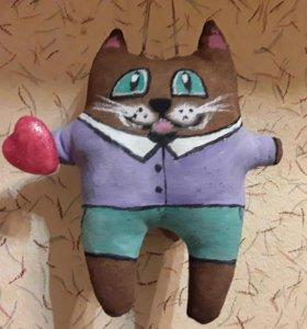 Кофейный котик ручной работы с запахом корицы