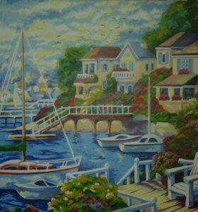 Картина масляными красками на холсте (40 * 50)