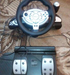Игравой руль и педали