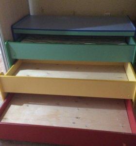 Детская трёхъярусная кровать