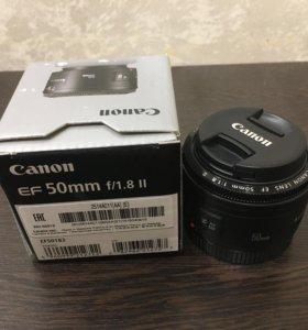 Canon 50 mm, f/1.8 II