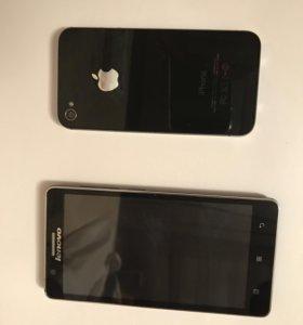 Iphone 4s 8gb + lenovo А536