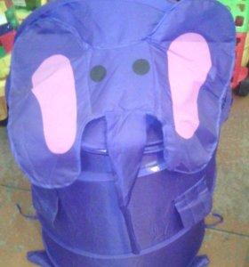 """Корзина под игрушки""""Слон"""""""