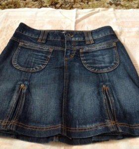 Юбка джинсовая, новая, размер 42-44