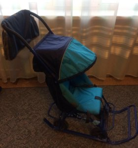 Санки-коляска на колёсах Вета