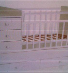 Кровать Фея 1000( от 0 до 15 лет)