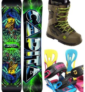 Сноуборд крепления ботинки