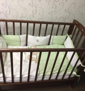 Кроватка детская Ромашка Лель +матрасик Traumeland