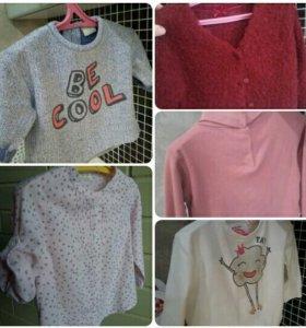 Вещи ZARA для девочки пакетом 74-92см