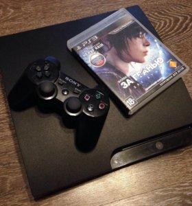 PS3 Slim 160gb + 5 игр