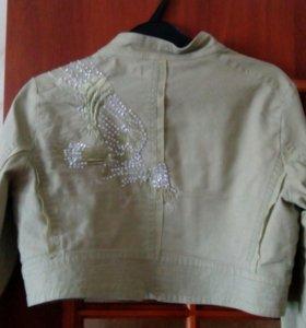 пиджак с красивой вышивкой из бисера!!!