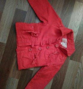 Вельветовый пиджачок для девочки