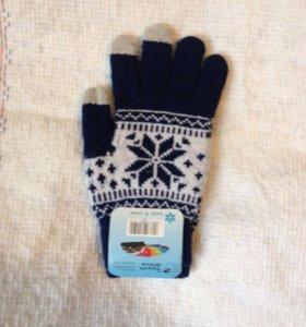 Сенсорные перчатки унисекс, синие
