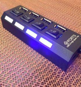 USB Хаб (новый в упаковке)