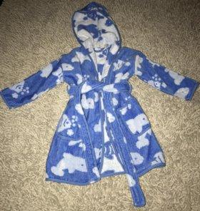 Новый махровый халатик Zara home kids