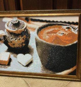 Алмазная вышивка  «Кофе для любимого»