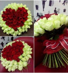 Розы букеты доставка