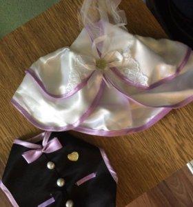 Одежда на бутылку на свадьбу+ползунки