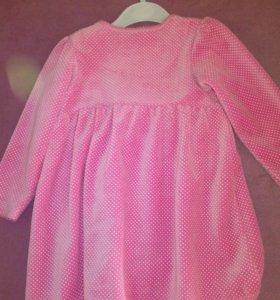 Платье велюровое р.86-92