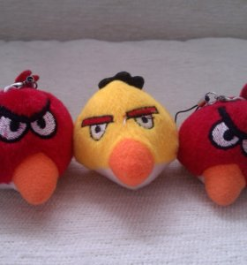 Angry Birds, игрушки мягкие подвески
