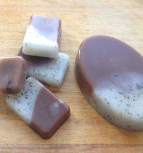 мыло шоколад и мята ручной работы