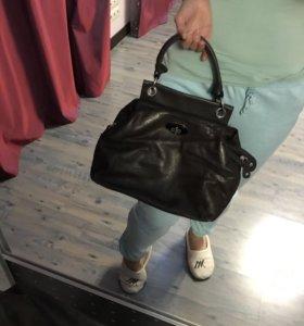 Коричневая кожаная сумка Gillian