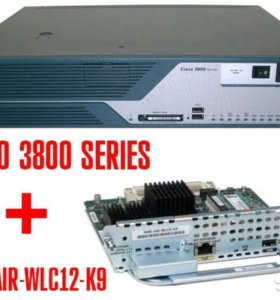 Маршрутизатор Cisco 3800 + Cisco NME-AIR-WLC12-K9