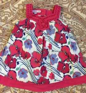 Платье monsoon 9-12 мес