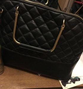 Кожаная сумка Zara новая