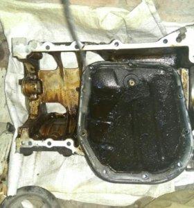 Поддон и крышка поддона двигатель 2NZFE Toyota