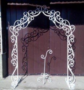 Кованая свадебная арку