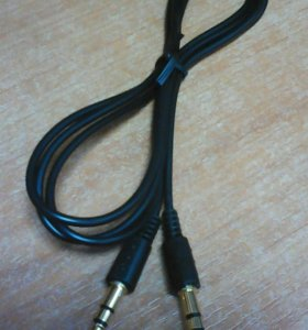 Аудио шнур (штекер 3,5 - штекер 3,5) 1м