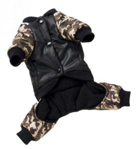 Теплая куртка для собаки осень/зима/весна