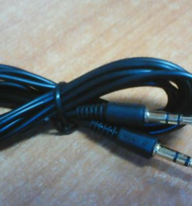 Шнур штекер 3.5 мм х штекер 3.5 мм 2м черный AUX