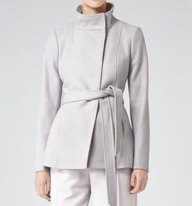 Светло-серое короткое пальто Reiss / S