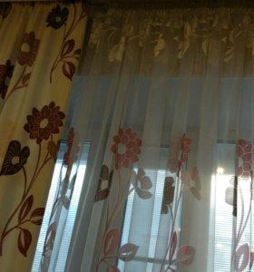 Комплект зановесок (шторы тюль)