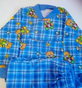 Теплая пижама для мальчика новая