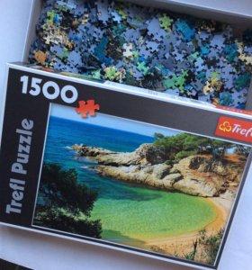 Продаю пазлы Trefl, 1500 шт, Морской пейзаж