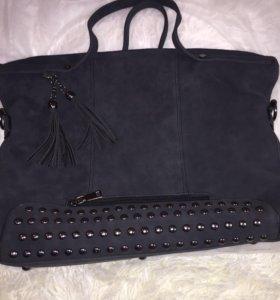 Новая сумка из нубука