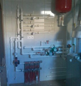Монтаж отопления,тёплые полы,вода,канализация