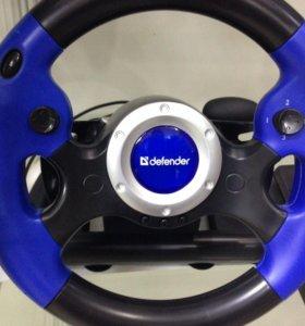 Руль игровой с педалями и переключателем передач
