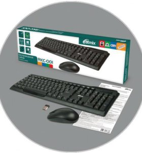 Беспроводная клавиатура Ritmix RKC-001 Black USB