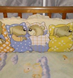 Балдахин + бортики в кроватку